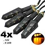 FEZZ Moto LED Clignotants Indicateurs Universel pour Harley Scooter Suzuki Yamaha Honda Ambre DC 12V (Lot de 4)