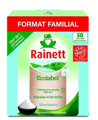 rainett 50 tablettes lave vaisselle tout en 1 ecologique accessoires. Black Bedroom Furniture Sets. Home Design Ideas