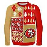 Forever Collectibles San Francisco 49ers Men´s NFL Busy Block Ugly Sweater