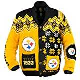 NFL Pittsburgh Steelers Adult Ugly Cardigan Sweater