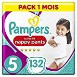 Pampers - Premium Pants - Couches-culottes Taille 5 (12-17 kg) - Pack 1 Mois (x132 culottes)