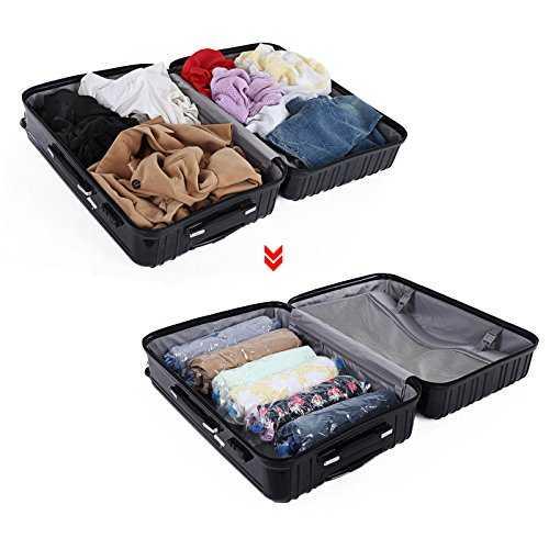 songmics 6 baquets sacs de rangement sous vide sacs de stockage pour voyage. Black Bedroom Furniture Sets. Home Design Ideas