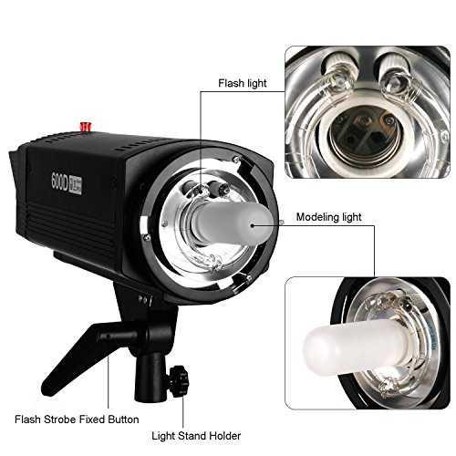 1200w kit de flash clairage pour studio photo professionnel kit d clairage. Black Bedroom Furniture Sets. Home Design Ideas