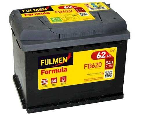 fulmen batterie voiture fb620 12v 62ah 540a batterie s. Black Bedroom Furniture Sets. Home Design Ideas
