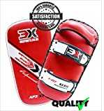 PROFESSIONAL CHOICE 3X MMA Strike Training Shield Thai Pad Kick Boxing Punching Mitts, Pair, Single (Red_incurvé, Single)