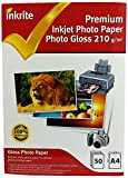Inkrite Lot de 50 feuilles de papier photo brillant Format A4 210 g/m² Qualité professionnelle
