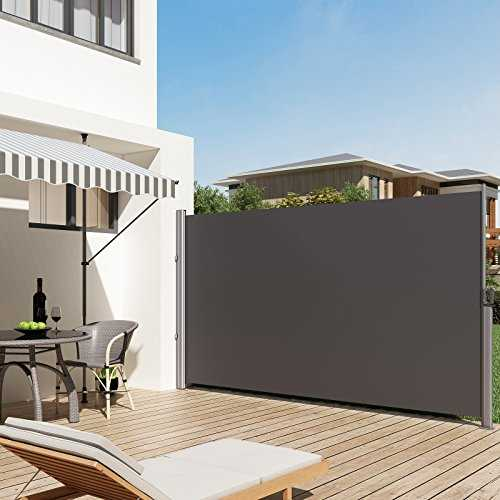 songmics 200 x 350 cm h x l store lat ral pour balcon terrasse brise vue. Black Bedroom Furniture Sets. Home Design Ideas