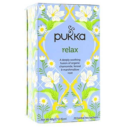 pukka organic teas relax 20 count pack of 6 by 3m cat gories plan te. Black Bedroom Furniture Sets. Home Design Ideas
