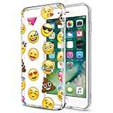 Eouine Coque iPhone Se, Coque iPhone 5s / 5, Etui en Silicone 3D Transparente avec Motif Dessin [Antichoc] Souple Gel TPU Housse Coque Telephone pour Apple iPhone Se / 5s / 5-4 Pouce (Emoji)