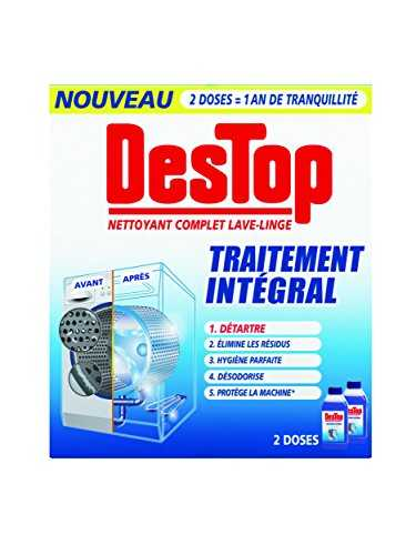 destop nettoyant complet lave linge 2 500 ml lot de 2 nettoyants m nagers. Black Bedroom Furniture Sets. Home Design Ideas