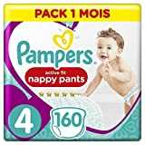 Pampers - Premium Pants - Couches-culottes Taille 4 (9-15 kg) - Pack 1 Mois (x160 culottes)