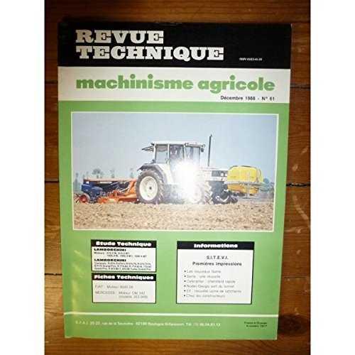 Revue Technique Machinisme Agricole N 176 61 Lamborghini Moteurs 916 4 W 916 4 W1