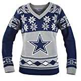 NFL Dallas Cowboys Women´s Big Logo V-Neck Ugly Christmas Sweater