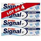 Signal Dentifrice Anti-Tartre, Limite la Formation de la Plaque Dentaire et Freine la Calcification (75ml) (Lot de 4)