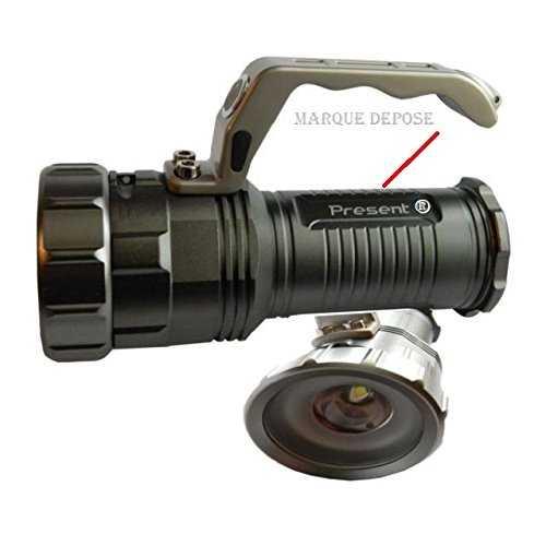 Grosse lampe torche pour les balades nocturne cree led 9001 t6 ultra puissante - Lampe torche la plus puissante ...