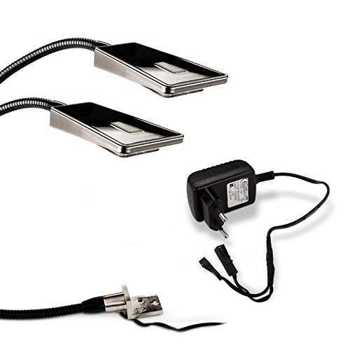 2x so tech lampe liseuse flexible luminoso led lampe de chevet del lampe. Black Bedroom Furniture Sets. Home Design Ideas