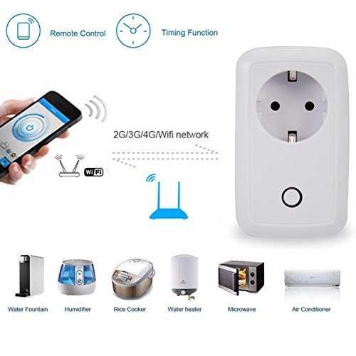 M way prise de courant connect e wifi intelligente socket - Prise connectee wifi ...