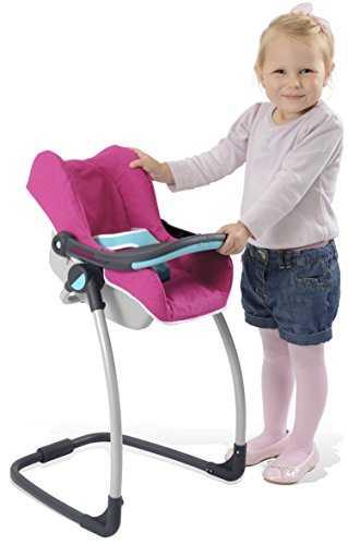 smoby 520691 mobilier de poup e b b confort si ge chaise haute. Black Bedroom Furniture Sets. Home Design Ideas