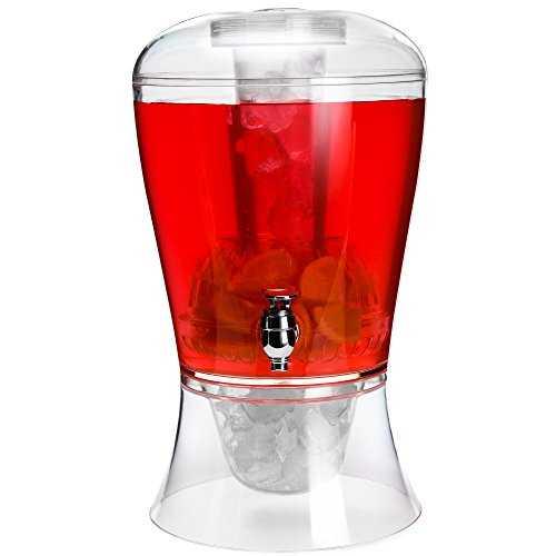 distributeur pour boissons froides andrew james avec infuseur et tube de. Black Bedroom Furniture Sets. Home Design Ideas