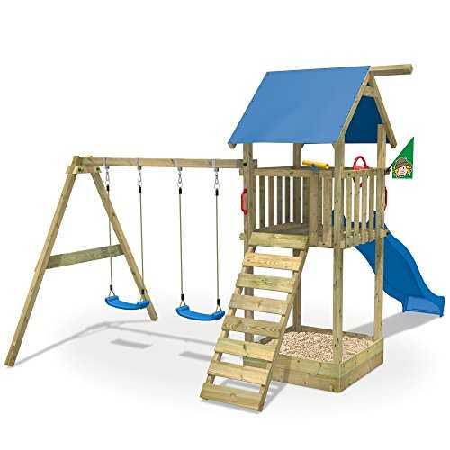 wickey aire de jeux smart empire portique de jeux en bois avec balan oire. Black Bedroom Furniture Sets. Home Design Ideas