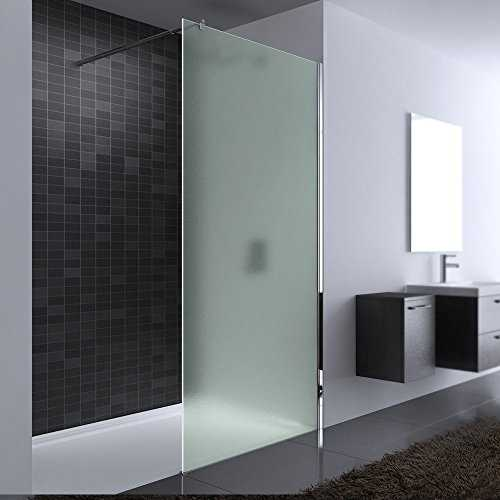 paroi de douche pare douche verre de s curit satin opaque 8mm barre. Black Bedroom Furniture Sets. Home Design Ideas