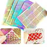 60 Pièces 5 Feuilles 72 Différents Styles Stencil Ongles Nail Art Stickers Set Designs Cute Nail Art Ongles Stencil Feuilles