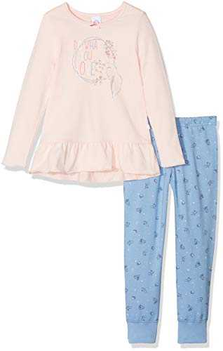 Sanetta Long Ensemble de Pyjama, Rose (Pink Cream 38062.0), 98 cm Fille