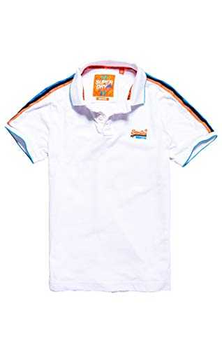 Superdry Team Sports Cali Polo Blanc (Optic White 26c), X-Large Homme