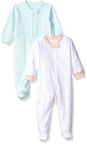 Amazon Essentials Lot de 2 Pyjamas pour bébés, filles, Uni Star, US 6-9M (EU 63-74)