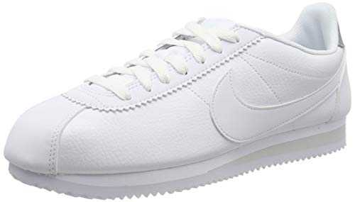 Nike Classic Cortez Leather, Chaussures de Running Homme, Blanc (White/Pure Platinum 101), 43 EU