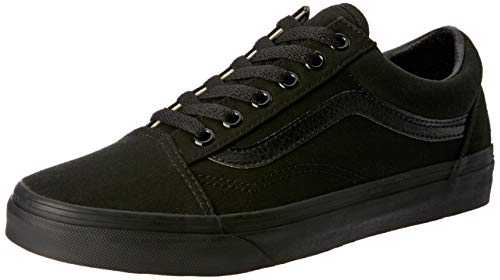Vans Old Skool Classic Canvas, Baskets Basses Mixte Adulte, Noir (Black), 42 EU
