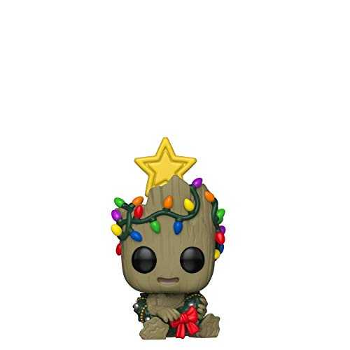 Funko Pop Bobble Vinyle Marvel: Holiday-Groot Figurine de Collection, 43333, Multicolore