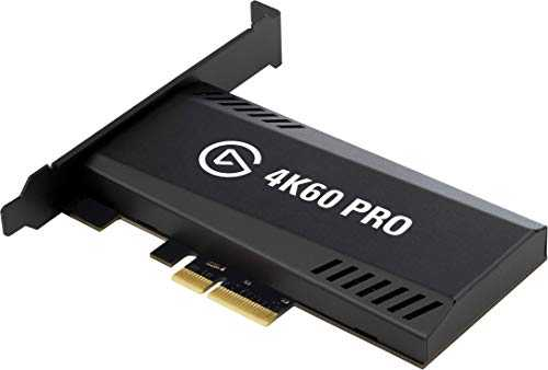 Elgato Game Capture 4K60 Pro MK.2 - Enregistrement 4K60 HDR avec pass-through, Carte d'acquisition PCIe, Technologie à ultra-faible latence Affichage instantané