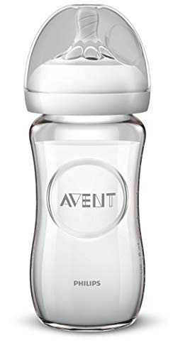 Philips Avent SCF053/17 Biberon Natural Verre 240 ml - 1 Mois+