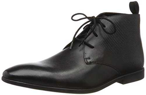 Clarks , Bottines Classiques Homme - Noir - Noir (Black Leather Black Leather), 45 EU