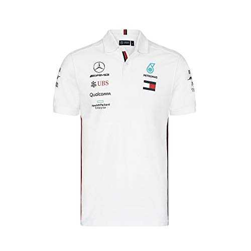 Mercedes AMG Petronas Motorsport 2019 F1™ Mens Polo Shirt White XXL