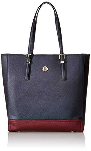 Tommy Hilfiger Honey Workbag Cb, Sacs bandoulière femme, Bleu (Tommy Navy Mix),