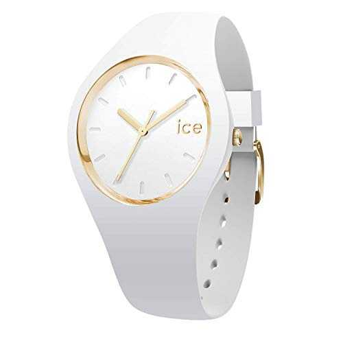 Ice-Watch - Ice Glam White - Montre Blanche pour Femme avec Bracelet en Silicone - 000917 (Medium)