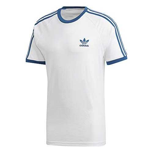 adidas Originals 3-Stripes Tee T-Shirts & Polos Hommes Blanc - M - T-Shirts Manches Courtes