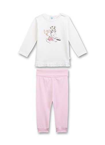Sanetta Long Ensemble de Pyjama, Beige (Broken White 1427.0), 12 Mois Bébé Fille