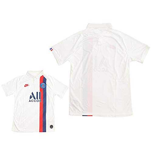 Nike PSG Breathe Stadium 3rd Maillot d´équipe Homme, White/University Red, FR : M (Taille Fabricant : M)