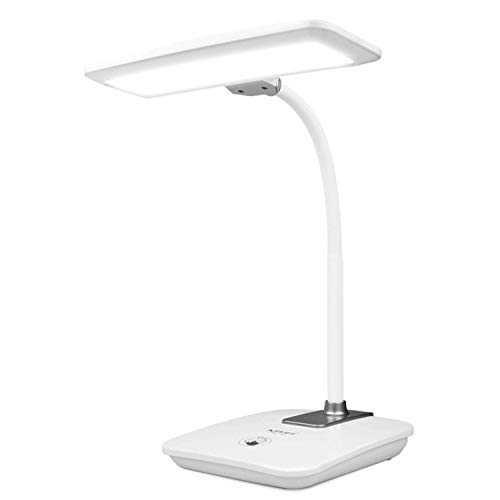 Foldable Gooseneck Rechargeable Table Light, LED Eye-Protecting Desk Lamp, Bedroom Living Room Bedside Children Learning Reading Lamp, Touch Three-Speed Dimming, 2000 MAh Capacity