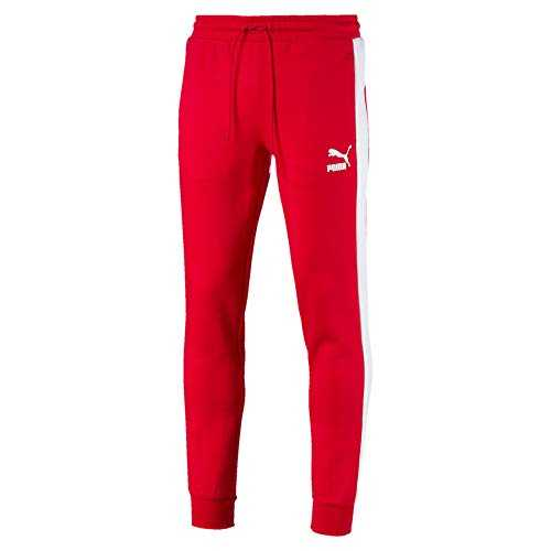 PUMA Pantalon de survêtement à Double Tricot Archive Iconic T7 pour Homme High Risk Red L
