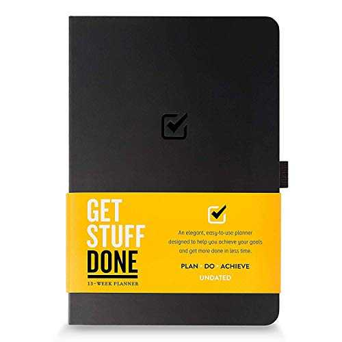 Undated Productivity Journal, 13 Week Planner for Goal Setting Plus 31 pages daily, 21.1 x 14 cm