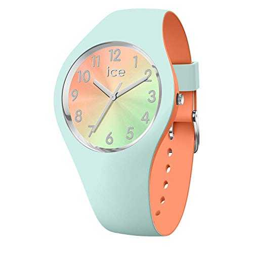 Ice-Watch - ICE duo chic Aqua coral - Montre verte pour femme avec bracelet en silicone - 016981 (Small)