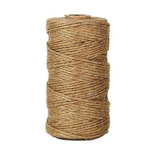 CAOLATOR 100M Corde de Chanvre Natural Jute Handmade Hemp Rope Rustic for Decoration, Wedding, DIY Accessory and Jardinage Collage