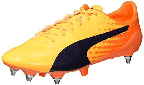 PUMA Evospeed 17 SL S MX SG, Chaussures de Football Homme, Jaune (Ultra Yellow-Peacoat-Orange Clown Fish 02), 42 EU