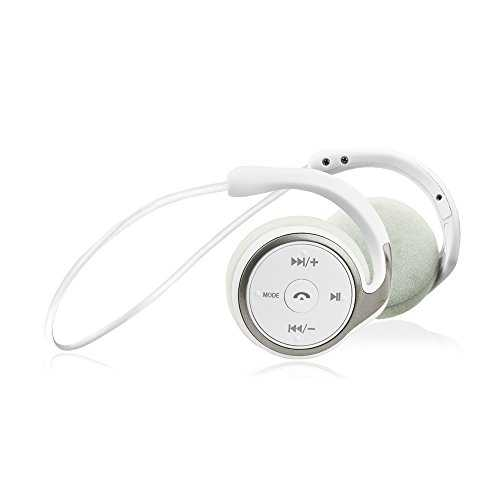 Flame Casque Bluetooth étanche IPX7 Casque de Sport Rich Bass, Casque de Sport Joggen Bluetooth 4.1, avec Microphone pour iPhone Android Samsung iPad Huawei HTC USW (White), White