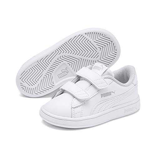 Puma Smash v2 L V Inf, Baskets Basses Mixte Enfant, Blanc (Puma White), 23 EU