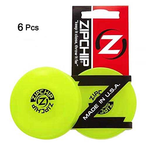 diaobaol Zip Chip Frisbee Mini Pocket Flexible Nouveau Jeu De Capture De Spin Disque Volant ZipChip (6pcs)